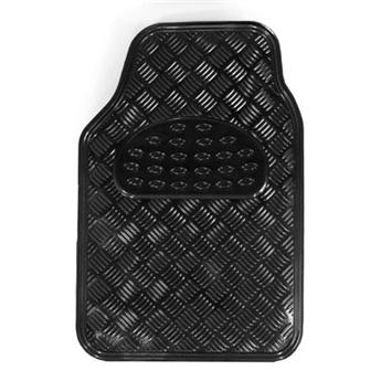 האחרון סט שטיחים גומי דמוי אלומיניום שחור\קרבון 4 חלקים לרכב | אוטו 365 LB-87
